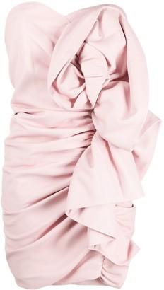 Alexandre Vauthier Strapless Leather Mini Dress