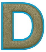 "Anya Hindmarch Capra Leather Oversized ""D"" Sticker"