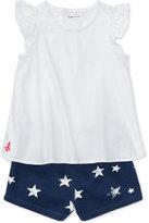 Ralph Lauren Flutter-Sleeve Top & Printed Shorts Set, Baby Girls (0-24 months)