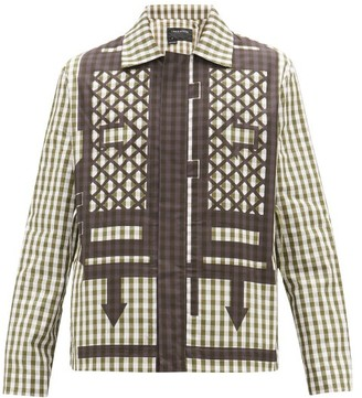 Craig Green Gingham-check Cotton-poplin Jacket - Mens - Black Green
