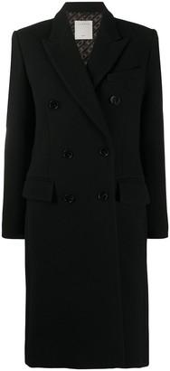 Sandro Double-Breasted Midi Coat