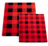 Martha Stewart Collection 2-Pc. Glass Plaid Board Set, Only at Macy's