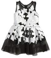 Halabaloo Infant Girl's Flower Applique Dress