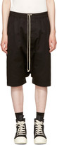 Rick Owens Black Double Twist Rick's Pods Shorts