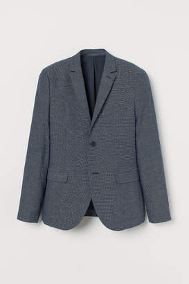 H&M Slim Fit Blazer - Blue