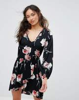 Band of Gypsies Floral Festival Wrap Dress