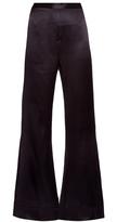 Ellery Revolver flared silk-satin trousers