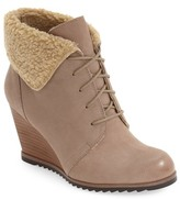 Caslon Gaby Faux Shearling Lace-Up Bootie