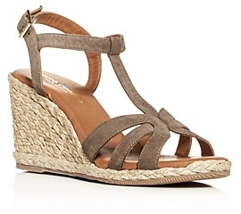 Andre Assous Women's Madina T-Strap Wedge Sandals