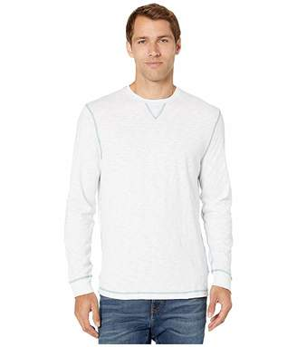 True Grit Heritage Slub Long Sleeve Crew with Contrast Converstitch Detail