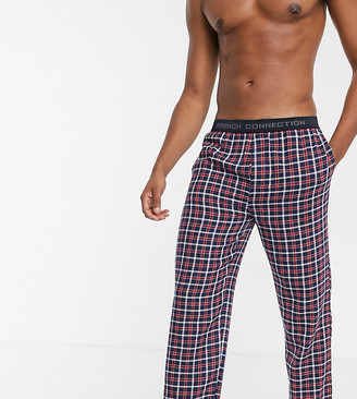 French Connection Tall woven check logo lounge pants