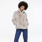 BEIGE Trench & Coat Chatel Faux Fur Coat - 34