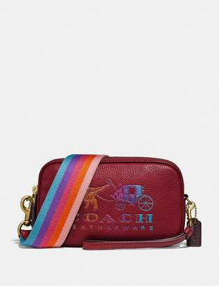 Coach Sadie Crossbody Clutch With Rexy And Carriage