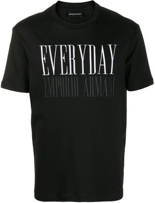 Emporio Armani Everyday print T-shirt