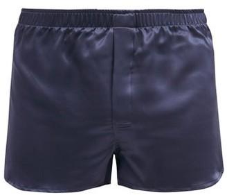 Derek Rose Bailey Silk-satin Boxer Shorts - Navy