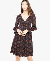 Ann Taylor Bouquet Smocked Cuff Dress