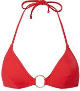Solid & Striped Tania Triangle Ring Detail Bikini Top