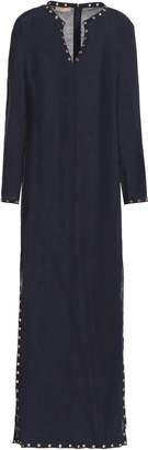 Michael Kors Eyelet-embellished Linen Maxi Dress