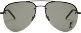Saint Laurent Classic aviator metal sunglasses
