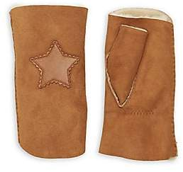 Agnelle Women's Sherif Star-Patch Shearling Gloves
