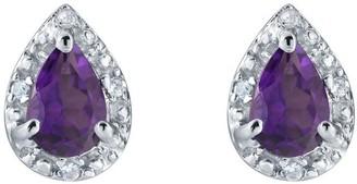 Sterling Silver Pear Shaped Gemstone Earrings