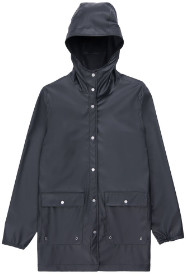 Herschel Black Womens Rainwear Jacket - l