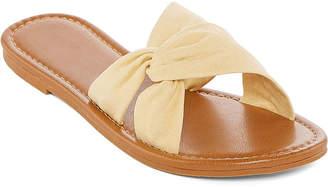 Arizona Womens Grape Slide Sandals