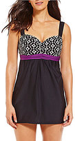 Alex Marie Diamond Underwire Swim Dress