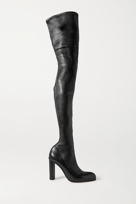 Alexander McQueen Leather Over-the-knee Boots - Black