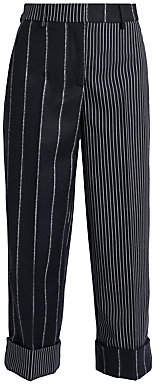 Thom Browne Women's Wool-Blend Cropped Sack Trousers