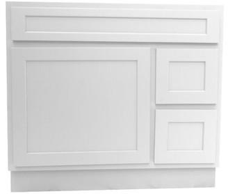"""Vanity Art Hibbitts 36"""" Single Bathroom Vanity Base Only Vanity Art Base Finish: White"""