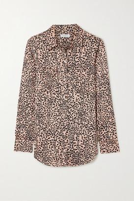 Equipment Slim Signature Leopard-print Crepe De Chine Shirt