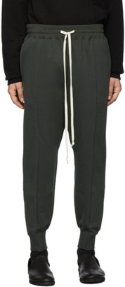 The Viridi-anne Grey Cotton Fleece Lounge Pants
