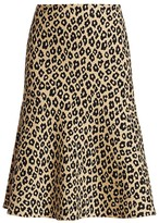 Theory Leopard Print Flared Skirt