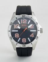 BOSS ORANGE By Hugo Boss Berlin Silicone Watch In Black 1512943