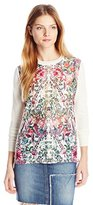 Ted Baker Women's Rayshel Layered Bouquet Woven Front Sweater