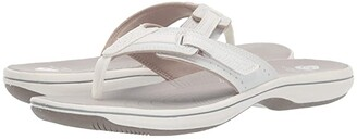 Clarks Brinkley Reef Boxed (White Synthetic) Women's Sandals