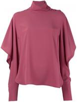 Marni long sleeve mockneck blouse