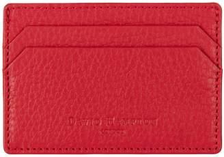 Richmond David Hampton Leather Card Holder In Poppy Red
