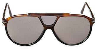 Persol 59MM Tortoise Shell Aviator Sunglasses