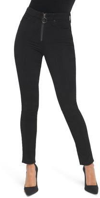 Good American Good Legs High Waist Exposed Zip Velvet Skinny Pants