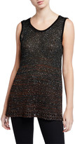 M Missoni Mini Paillettes Scoop-Neck Tunic Tank