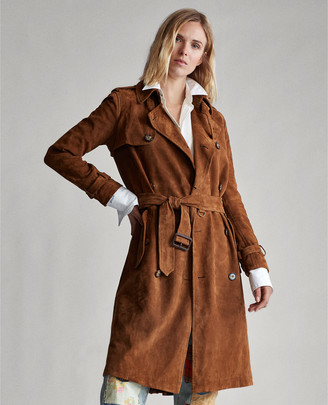 Ralph Lauren Suede Trench Coat