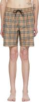 Burberry Beige Check Guildes Swim Shorts