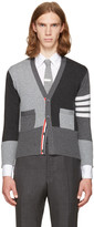 Thom Browne Grey Classic Short Funmix V-neck Cardigan