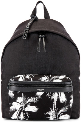 Saint Laurent Backpack in Black & White | FWRD