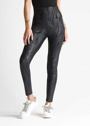 Yummie Faux Suede Reptile Print Shaping Legging