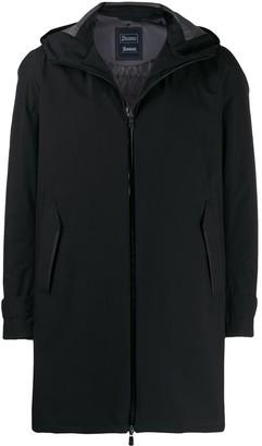 Herno zipped hooded parka coat