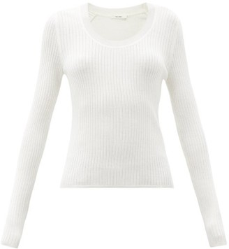 The Row Amaia Scoop-neck Ribbed Merino-wool Blend Sweater - Ivory