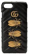 Gucci Gg Marmont 2.0 Matelasse Leather Iphone 7 Case - Black